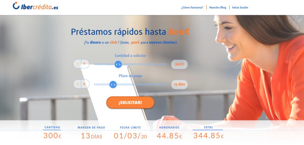 Ibercrédito solicitar préstamo rápido
